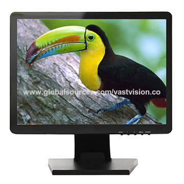 17 CCTV LCD Monitor with 1,024 x 768 Pixels, VGA/AV/BNC/HDMI Optional