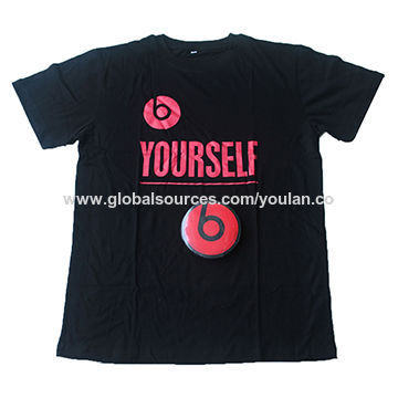 Compressed T-shirts in round shape, made of 100% cotton with logo at front and back side