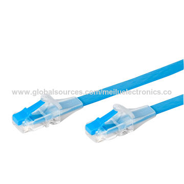 China LAN cable with unbreakable color latch modular plug