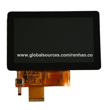 China 5-inch TFT LCD module with CTP, 800x480 resolution high brightness