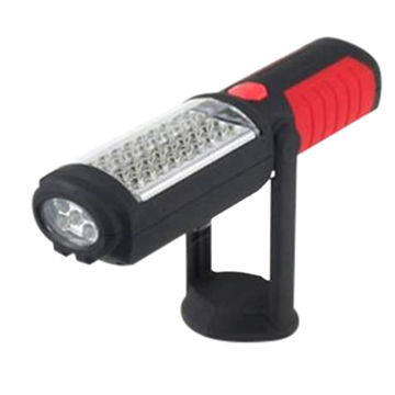 LED Working Flashlight with 36 + 5 LED Bulb & 2 Strong Magnets. Requires 3 x AA Batteries.