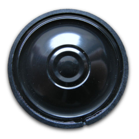 China Plastic Mylar Speaker with 8 Ohms Impedance and 0.3W Power Rating