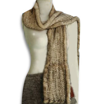 Scarf, Available in Size of 120cm, Made of Mink
