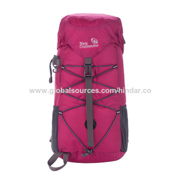 China Hiking Backpack, Nylon or Polyester