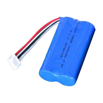 China 18650 power battery pack, 7.4V 2600mAh