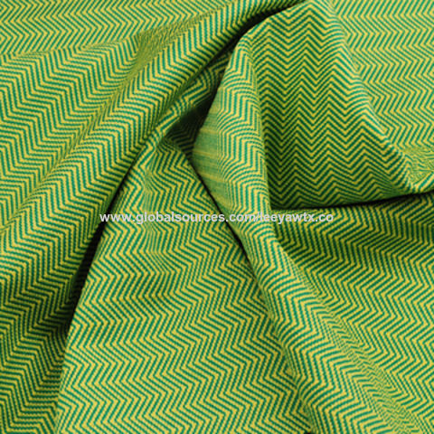 Taiwan Wicking/Anti-bacterial Fabric in Yarn Dye Herring Bone Jersey, Made of Poly and Spandex