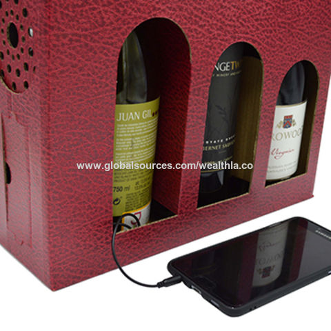 Hong Kong SAR Stereo speaker carrying boom box with amplifier for 3 bottles wine pack set