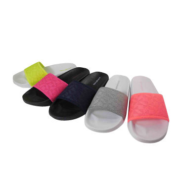 Women Slippers, Accepted Custom Upper Logo and Colors EVA Injection Outsole