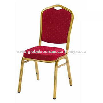 High quality cheap banquet chair, fabric seat with painting frame