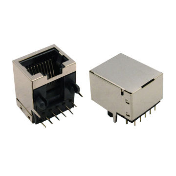 Taiwan RJ45 Single Port/Multiple Port Stack or Combo Type Vertical DIP Right Angle