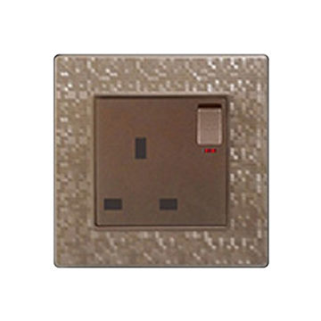 China One gang brown color light socket with one switch