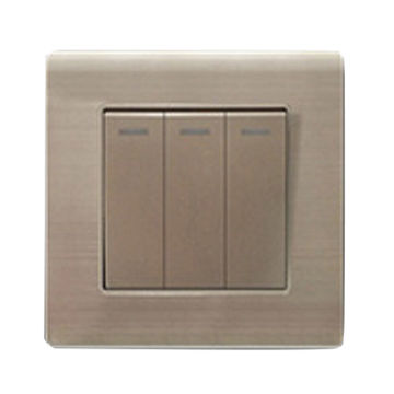 China Three Gang Golden Color Light Switch