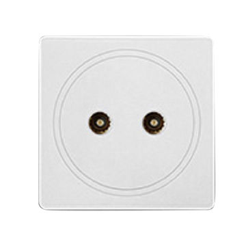 China One gang white color two satellite socket