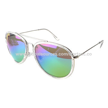 Women's Metal Sunglasses with Metal Frame, UV 400 Protection Lens, OEM Orders are Welcome