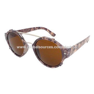 Sunglasses with plastic frame, Fashionable Style, UV 400 lens, CE, FDA approve,color optional