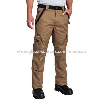 Multi-pocket Work Pants Heavyweight Twill, 65% Polyester/35% Cotton
