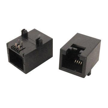 Taiwan Modular jack unshielded pcb 90 smt 6P6C