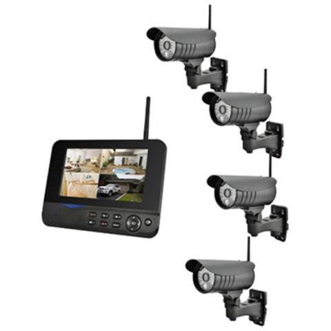 2.4GHz Wireless 4 Channel CCTV Security outdoor surveillance System