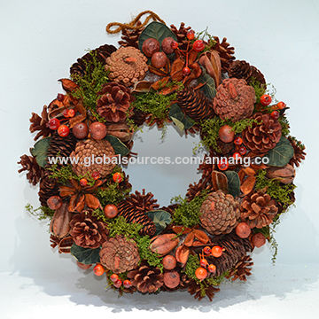 Christmas Wreath, Natural Staff & Hand-made