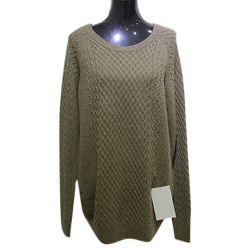 China Ladies' 100% cashmere women's sweater, women's knitted sweater