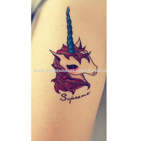 China Personalized and Chic Unicorn Tattoo Stickers, OEM Orders are Welcome