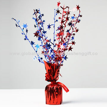 China Star Tinsel Balloon Weight, Various Colors are Available/Suitable for Party, Wedding, Holiday