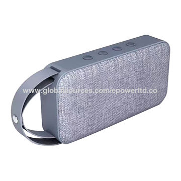 China Fabric Grills PU Handle Bluetooth Speaker Portable Handsfree Calls