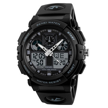 SKMEI Dual Time Display Big Face Men's LED Digital Watch Chronograph Sports Watches Military 1270