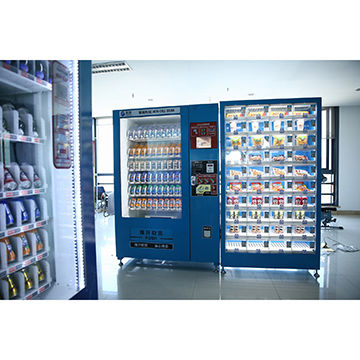 China Automatic vending machine with two cabinet and 8inch LED