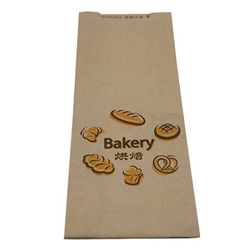 China Paper Bread Bag, 62x12cm with Clear Windows Safe and Grease Proofing