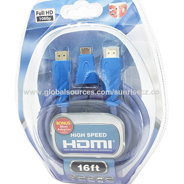 China HDMI A male to HDMI A male cable, 24\26\28\30AWG