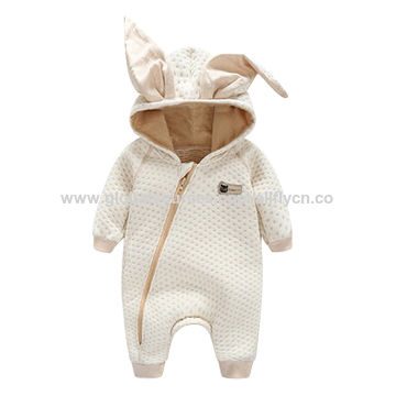 China Padded baby romper with long sleeved