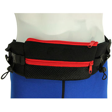 China Outdoor adjustable neoprene fashion fabric waist bags for men