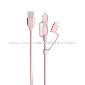MFi strong durable multi USB connector cable for iPhone, Samsung, type C
