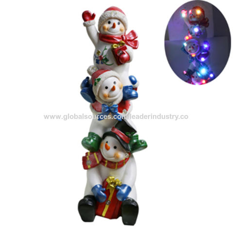 New Decorative Snowmen Family Figurine for Christmas Decoration and Home Decoration