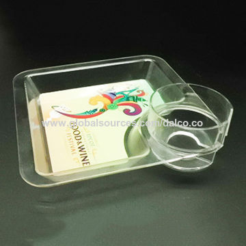 Taiwan Unbreakable Food Safety Grade Tritan Acrylic Plastic Multi-functional Serving Tray