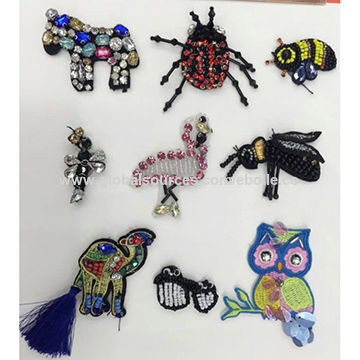 Beaded/Rhinestones Motifs, Available in Assorted Designs
