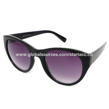 Women's Sunglasses with Plastic Frame, UV 400 Protection Lens, OEM Orders are Welcome