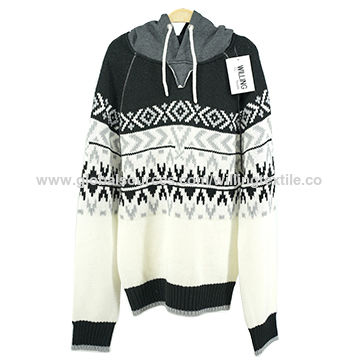 Ladies round neck Twisted flower knitted pullover