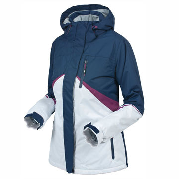 China Hooded ski jackets for women, waterproof, 5000mm and windproof, outdoor jackets