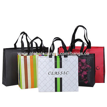 China Promotional PP coated custom printed recycled eco TNT grocery nonwoven bag