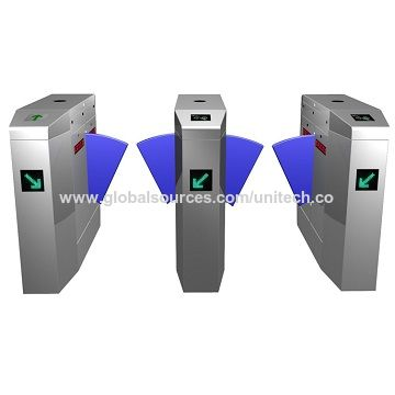 Stainless Steel Flap Turnstile with Infrared Detection
