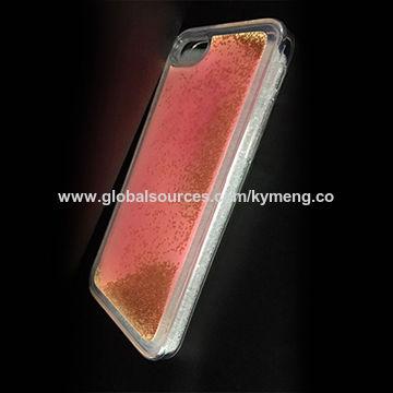 China New Design Noctilucent Liquid Phone Case, Luminous Water TPU Back Cover for Samsung J7, J5, J3