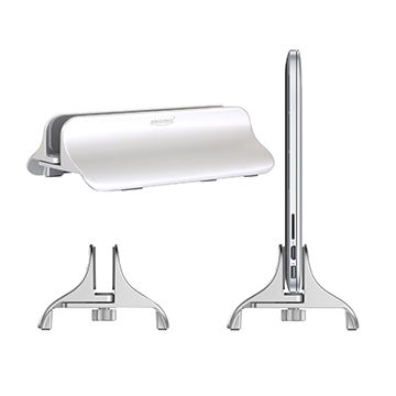 China Laptop Stand for MacBook Pro, Air Vertical Adjustable Aluminum Desktop Space-saving Stand