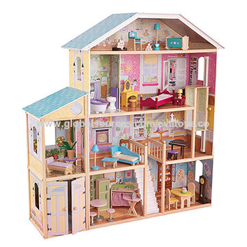 China Wholesale 34 Furniture Pieces Luxurious Girl S Wooden Doll