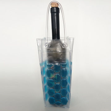 China Wine cooler bags, made of PVC with frozen liquid