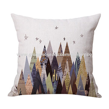 China Mountains cotton linen cushion cover