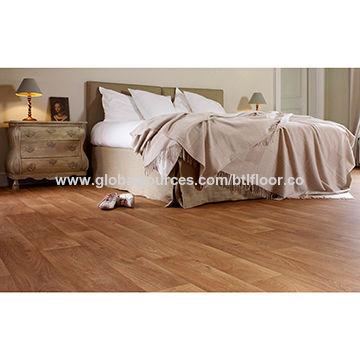 China PVC flooring vinyl plank with sound insulation for bedroom