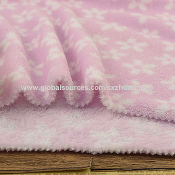 China 100% polyester winter cloth fabric coral fleece fabric