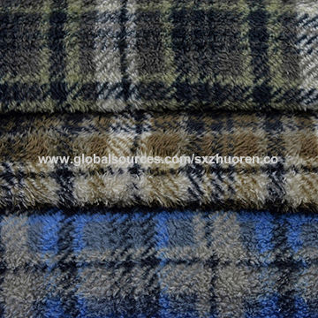 China 2017 new fashion polyester fabric 100% polyester printed fleece fabric for garment